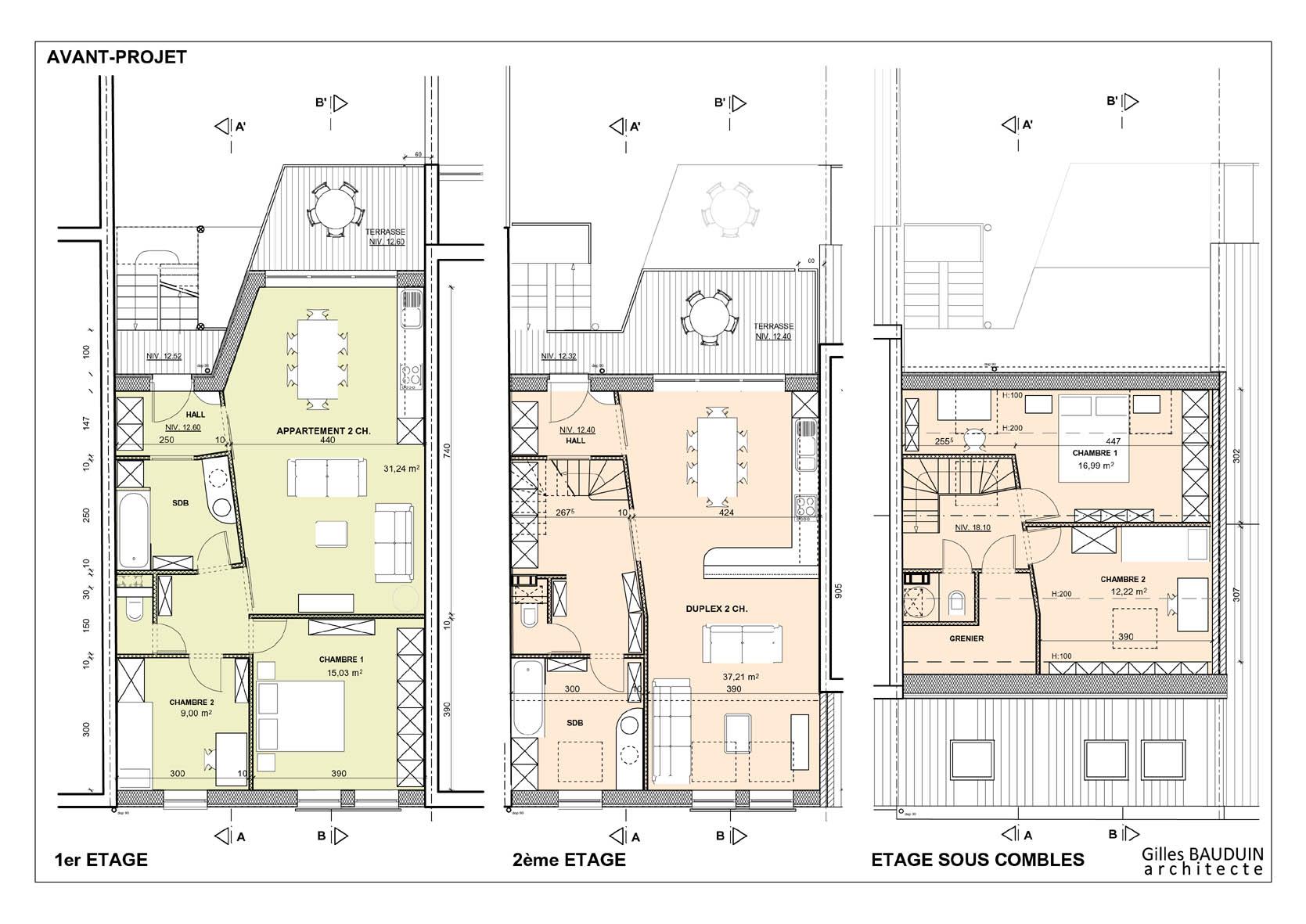 Plan maison de ville mitoyenne ventana blog - Plan maison de ville mitoyenne ...